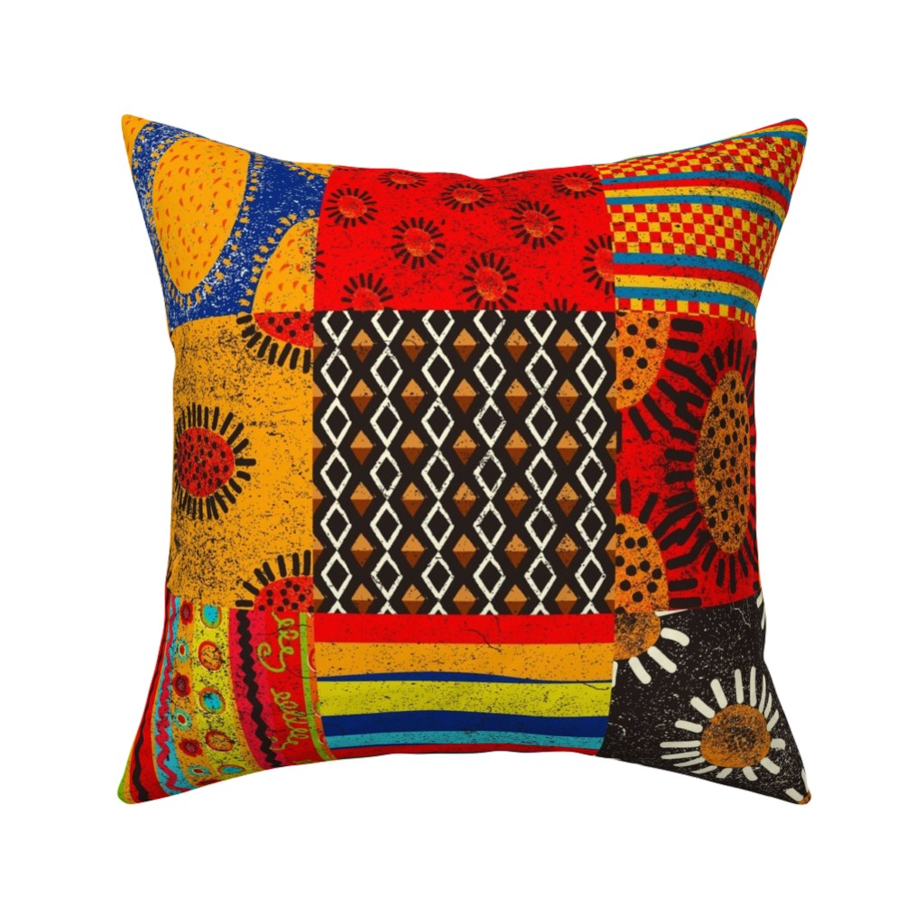 Catalan Throw Pillow featuring Crazy Kilim by orangefancy