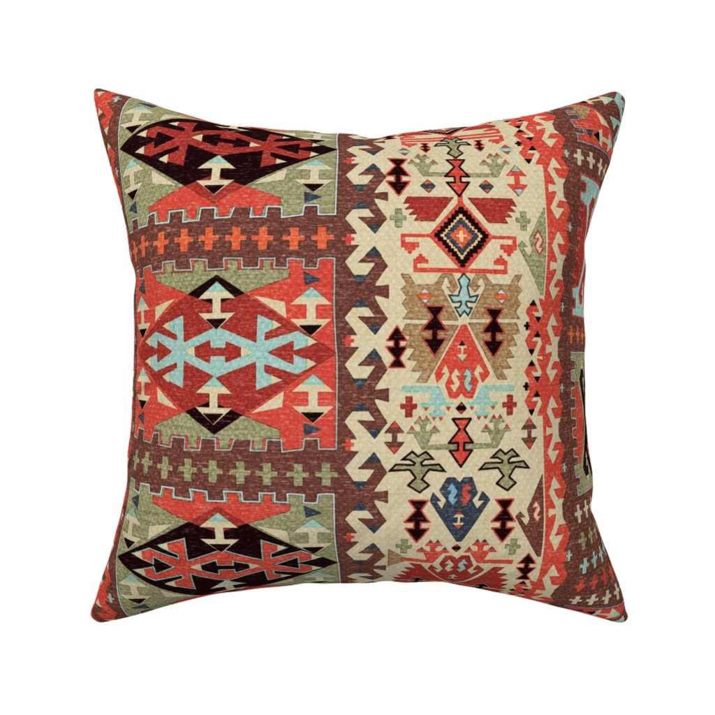 Catalan Throw Pillow featuring Turkish Kilim 2 by vinpauld
