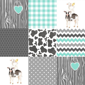 Farm / Love you till the cows come home - wholecloth cheater quilt
