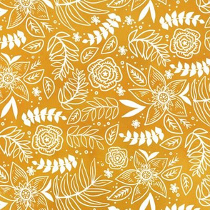 Golden Floral Watercolor