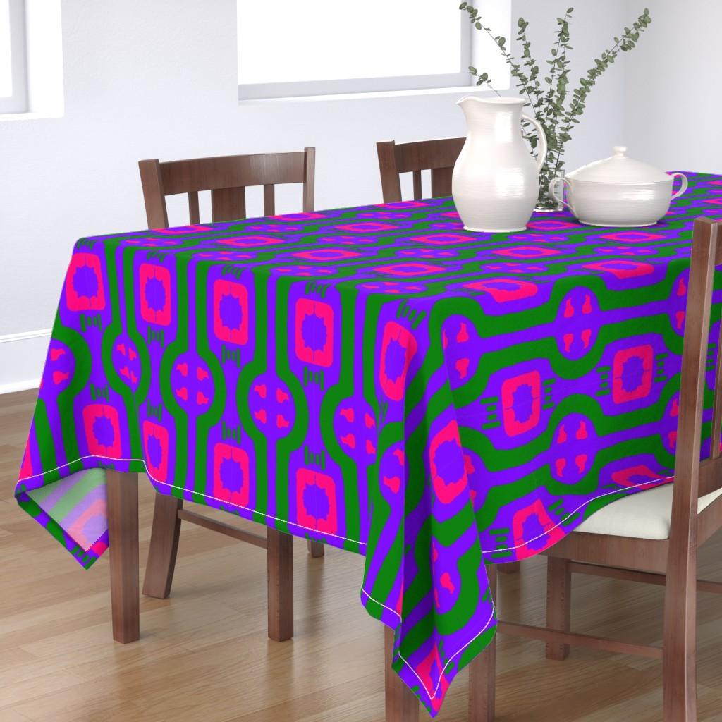 Bantam Rectangular Tablecloth featuring Funky Punky Furaha  4  by tabasamu_design
