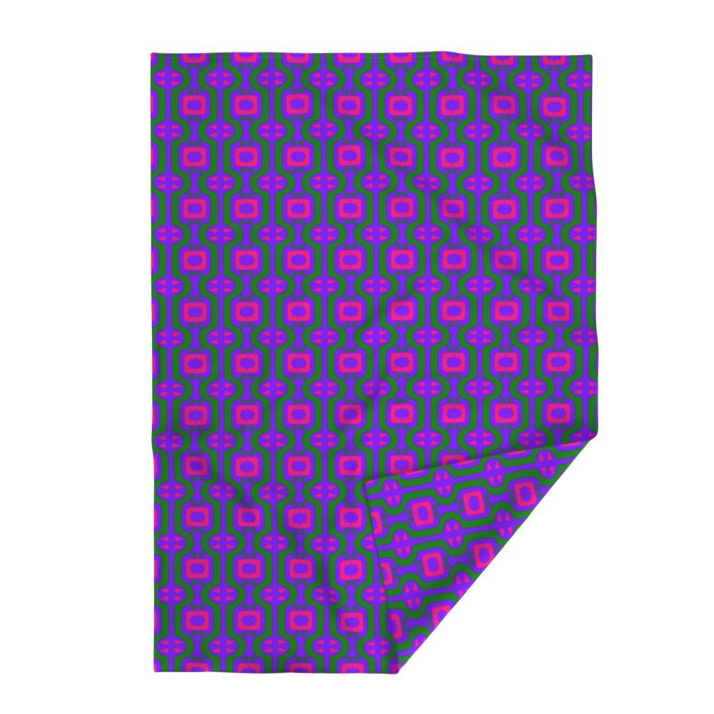 Lakenvelder Throw Blanket featuring Funky Punky Furaha 12 by tabasamu_design