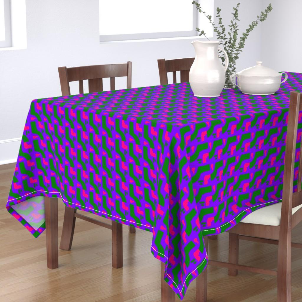 Bantam Rectangular Tablecloth featuring Funky Punky Furaha 16 by tabasamu_design