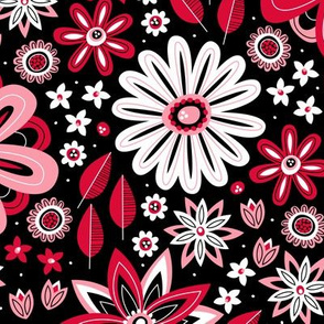 Bohemian Fields (Black and Red)