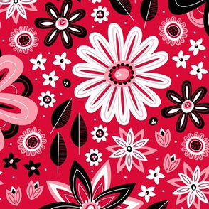 Bohemian Fields (Red and Black)