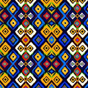Water colour Kilim Geometric Weave
