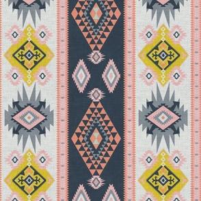 Modern Colourful Kilim geometric pastels