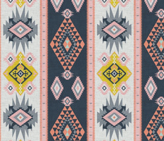 Modern Colourful Kilim geometric pastels