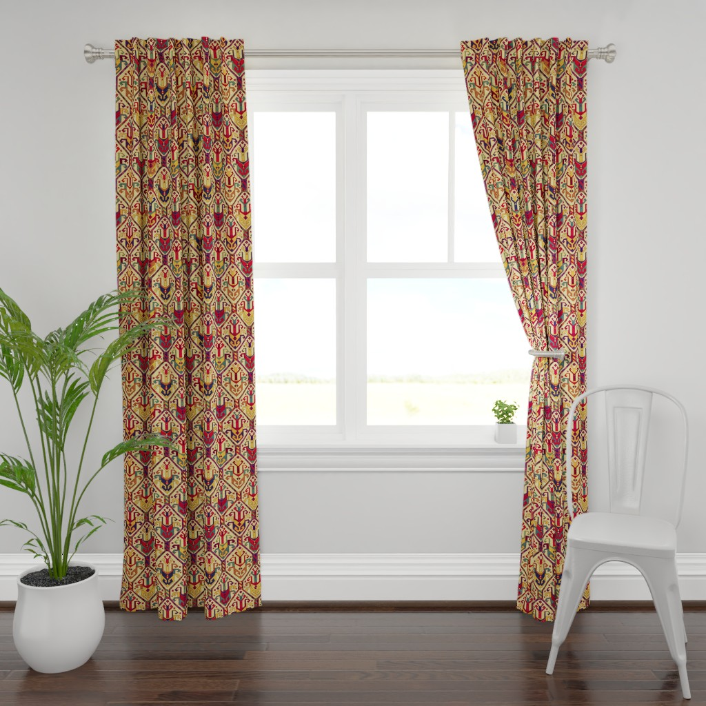 Plymouth Curtain Panel featuring KILIM Fabric by chicca_besso