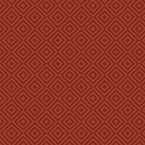rhombus rust red