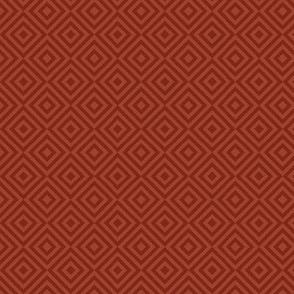 rhombus rust red
