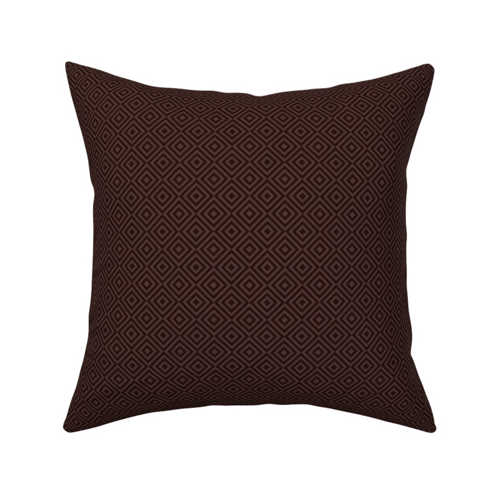 Catalan Throw Pillow featuring rhombus dark red by colorofmagic