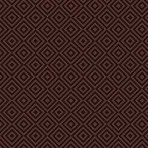 rhombus dark reddish brown