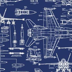 F-18 Blueprints // Large