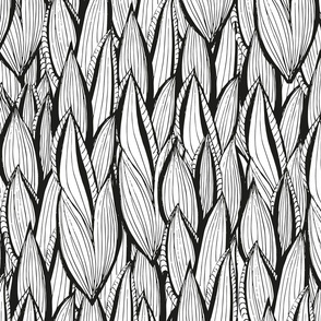 Weaved Black and Whit Kilim Corn Leaves
