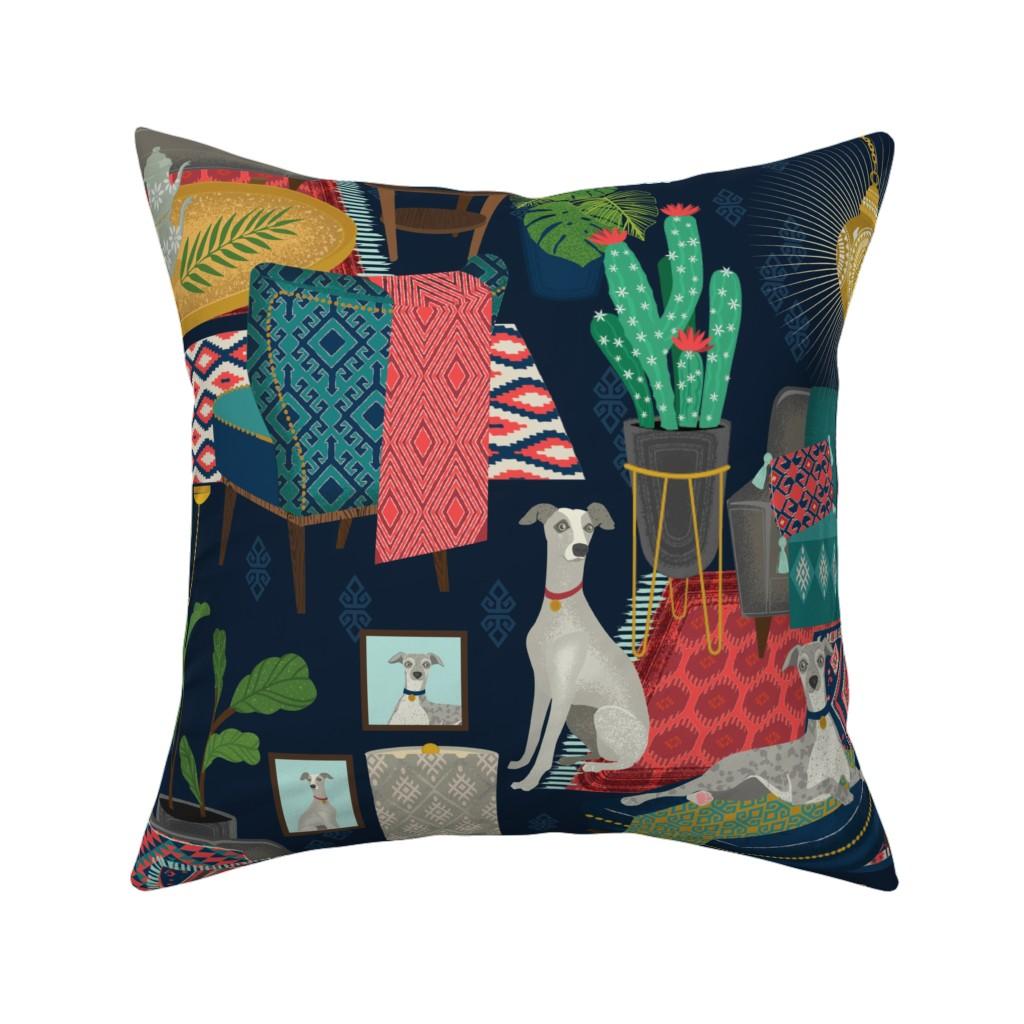 Catalan Throw Pillow featuring kilim boho by michaelzindell