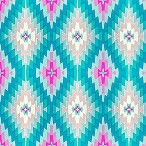 Marrakesh Kilim // pink ,    and aqua // summer // bohemian