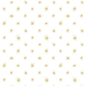 """Dotted Watercolor Sun .5"""" Golden Yellow"""