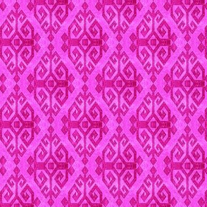 Moroccan Kilim of Motherhood and fertility in Magenta pink