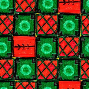 Green-red carpet