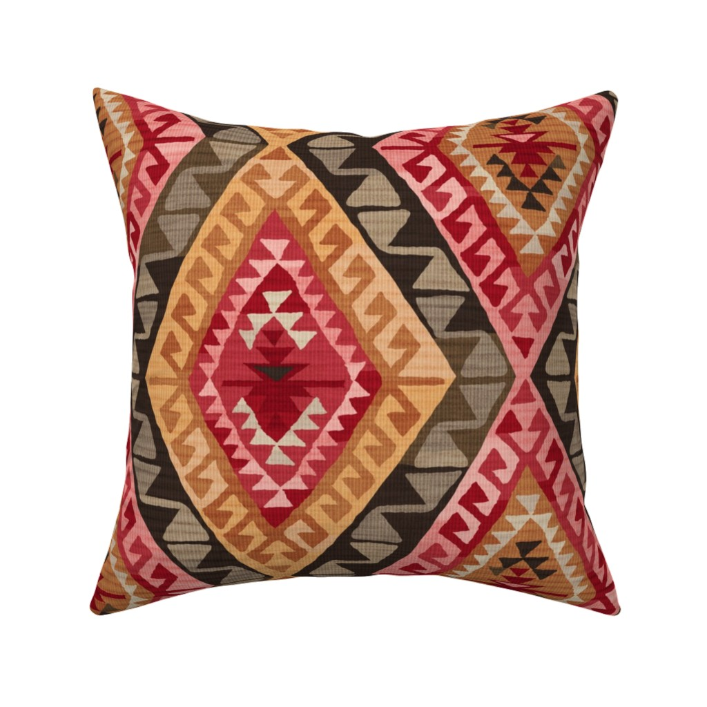 Catalan Throw Pillow featuring Kilim by byre_wilde