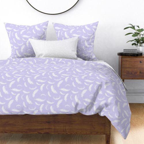 Boho Pastel Lilac Feathers For Nursery