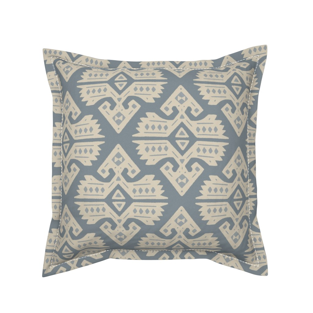 Serama Throw Pillow featuring Kilim Rug by moodyrooster