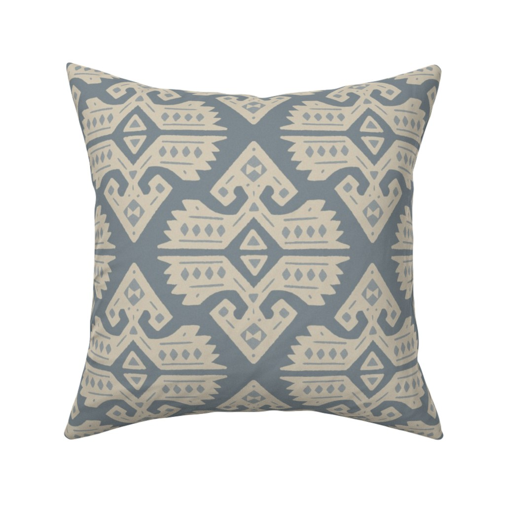 Catalan Throw Pillow featuring Kilim Rug by moodyrooster