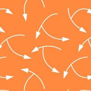 Navigational Arrows on Orange