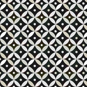 Black White Moroccan Bone Inlay Tile