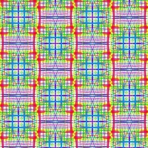 Bright Gauzy Checks - Small Scale