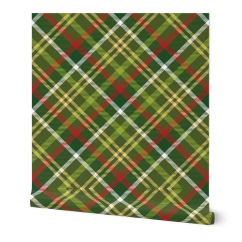 7198677 green diagonal tartan christmas plaid collection by