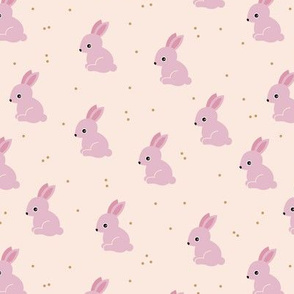 Sweet bunny confetti easter party spring summer design for kids pink