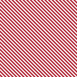 Candy Cane Stripe Red and White