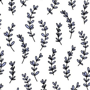 Minimal garden pop branch herbs plant leaves lavender