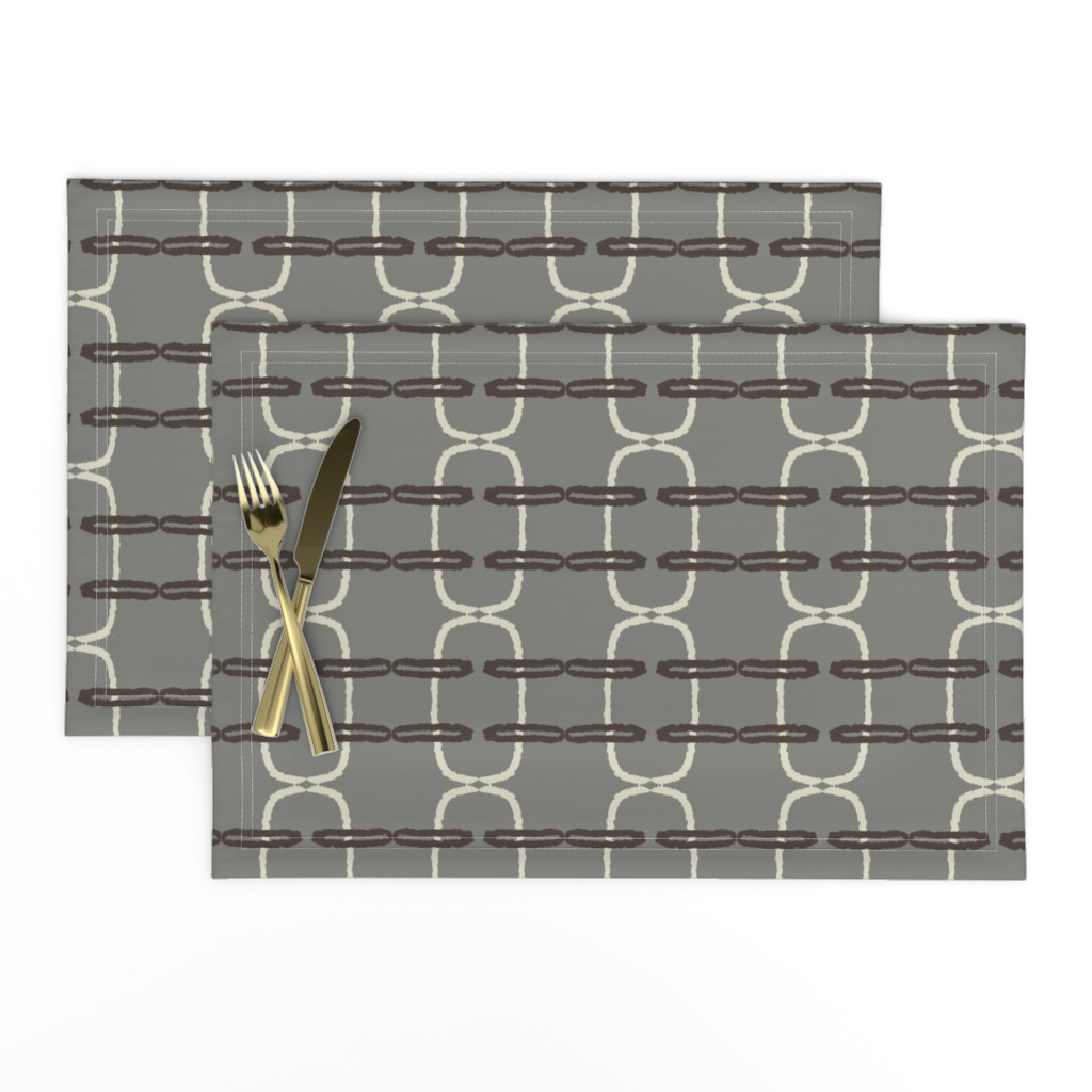 Lamona Cloth Placemats featuring in between_gray by anneke_doorenbosch
