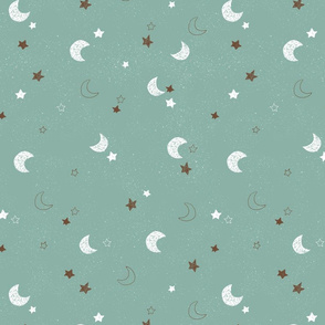 Moon and Stars- mint