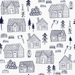 Wood Cabins- Navy