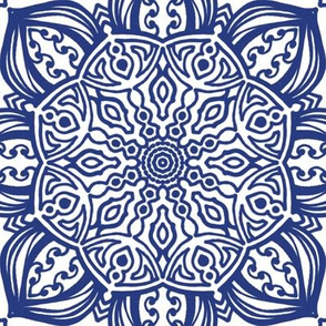 Project 612 | Boho Blue Willow China Pattern
