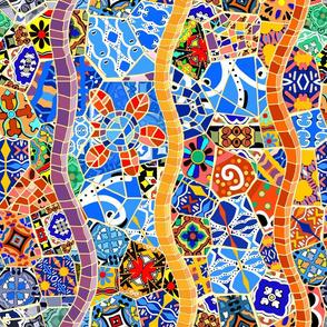 Spanish Tile Mosaic Vertical