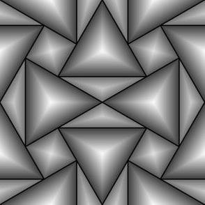 07201462 : triangle 4g : grey 3D