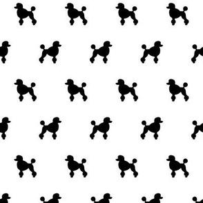 Poodle Black Silhouettes