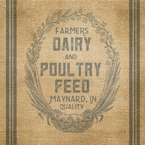 Dairy Feed Sack Farmhouse