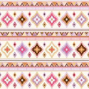 pink and sand kilim - small