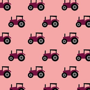 Super cool kids tractor farm truck country side adventures pink