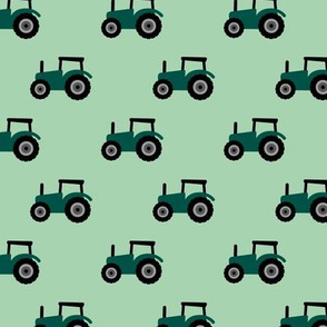 Super cool kids tractor farm truck country side adventures mint green