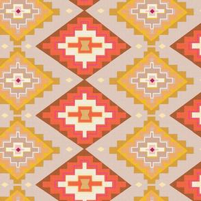 Sunset kilim pattern