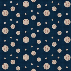 Baseball game toss - washed navy