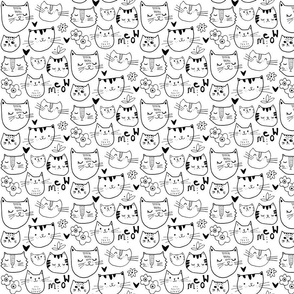Kitty Cat Faces - Original Size