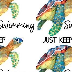 Just keep swimming turtle